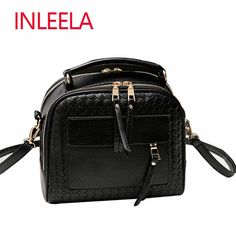 INLEELA New Arrival Knitting Women Handbag Fashion  Weave Shoulder Bag Small Casual Cross Body Bag Retro Totes ** Locate the offer simply by clicking the image