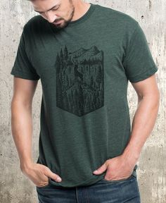 Minimal Landscape Drawing Mountain and Rising Sun Unisex Crew Neck Sweatshirt