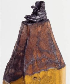 Tiny piece of art made out of pencil by artist Dalton Ghetti ..
