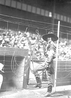 "Mabel Strickland - Rodeo Queen circa 1925.   Mabel Strickland (1897-1976) told a New York reporter, ""I know you think I'm a paradox, but I belong in the saddle for I've been there since I was three. I love the open, dogs, horses, guns, the trees, the flowers...Still I love dresses and everything that goes with them."""