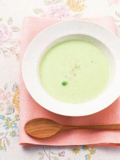 【ELLE a table】えんどう豆とにんにくのスープ レシピ|エル・オンライン