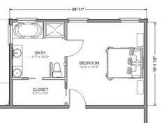 New Ideas Best Closet Layout Master Suite Master Bedroom Plans, Master Bedroom Addition, Master Bedroom Layout, Master Bedroom Bathroom, Bedroom Layouts, Bathroom Closet, Bath Room, Master Suite Floor Plan, Narrow Bathroom