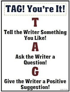 """""""TAG! You're It!"""" for peer-editing"""