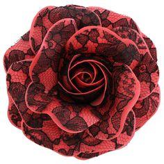 Women's+Black+Lace+Rose+_+Coral+[Black+Lace+Rose+_+Coral]+-+$19.95+:+Sara+Monica,+Sara+Monica+Flowers