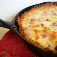 skillet quiche-uses hash browns for crust!
