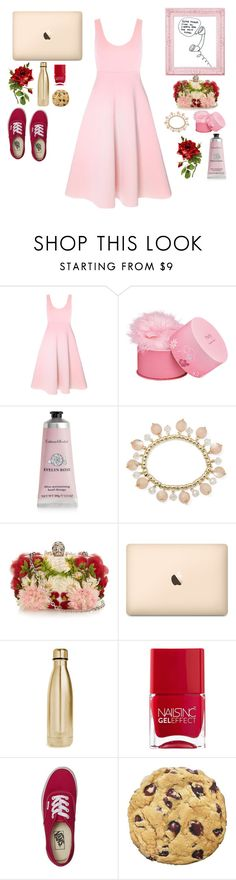 """""""Cherry Blossoms in Japan"""" by naomitrimble ❤ liked on Polyvore featuring Elizabeth Arden, Therapy, Mixit, Alexander McQueen, S'well, Nails Inc. and Vans"""