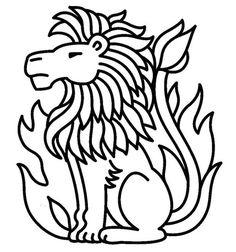 Kleurplaat sterrenbeeld leeuw