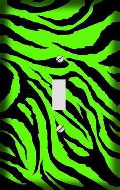 Lime Green Jagged Zebra Skin Print Decorative Switchplate Cover by Gotham Decor, LLC., http://www.amazon.com/dp/B006RRA8ES/ref=cm_sw_r_pi_dp_KJJDrb1C917MH