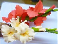 DIY Instruction: How to Make Wedding Flower - Calla Lily | Nylon Stocking flower - YouTube