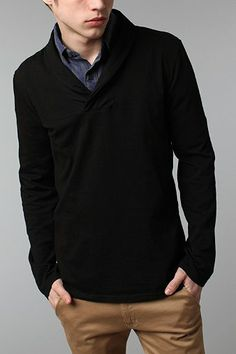 BDG Knit Shawl Pullover Shirt - Urban Outfitters