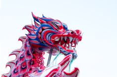 Mauritius chinese dragon at Chinese festival Port Louis