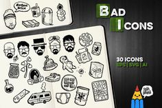 Check out Bad Icons by Salih Gonenli on Creative Market