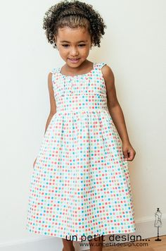 Un Petite Design does it again with this fabulous dress - Love the polka dots!  TUTE for the modifications