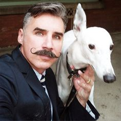 Handlebar Moustache & The one-eared dog... » Nice 'stache