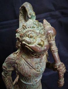 Hanuman Java with Gada Bronze Brass Statue - Hindu Spiritual Monkey God Sculpture Collectable Art Bronze Sculpture, Lion Sculpture, Hindu Statues, The Mahabharata, Indonesian Art, Brass Statues, Hanuman, Deities, Spirituality