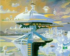 """""""Megastructure, 21st Century"""" by Robert McCall"""