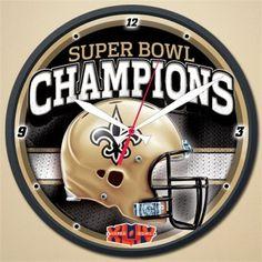New Orleans Saints Super Bowl 44 Champions Round Wall Clock Z157-1094325740