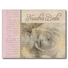 Romantic Nuestra Boda Postcard