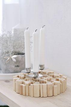 s i n n e n r a u s c h: [Nachmachtipp] Kerzenhalter aus Rundhölzern