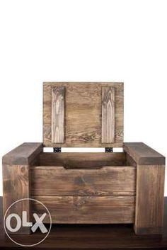 kufer drewniany, skrzynia, skrzynka drewniana, stolik kawowy, ława Kraków - image 5