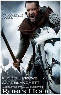 Russell Crowe teams up again with Gladiator director Ridley Scott in the 2010 quasi-historical action film Robin Hood! Ships fast. 11x17 inches.
