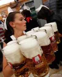 Oktoberfest! - Man, that girl is strong! One of those steins weigh like 10 lbs.