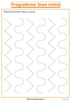 Schede di Pregrafismo di Percorsi con Linee Rette e Curve | PianetaBambini.it Math Addition Worksheets, Kindergarten Math Worksheets, Preschool Learning Activities, Preschool Curriculum, Worksheets For Kids, Nursery Worksheets, Tracing Worksheets, English Phonics, Drawing Lessons For Kids