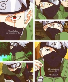 would love to have a painting for my wall of all Kakashi's famous quotes :)