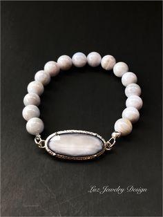 Blue agate bracelet -  Blue lace agate bracelet #35%off   # bracelet
