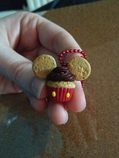 Mickey Mouse Cupcake Necklace by ClayGeekBoutique on Etsy