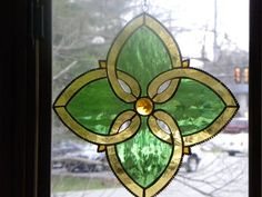Celtic Design Stained Glass suncatcher