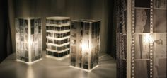 Hey, we just had a bright idea! Use your old architectural or design negatives to make these great lamps.