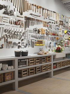 Kitchen or Workbench?  A  573 tool workbench works as a kitchen reserved for men.