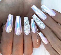 Top 80 Beautiful Winter Nail Art Designs Ideas for 2019 – TopBestLife – Part 24 – Nail Design – NailiDeasTrends - Nailart Winter Nail Art, Winter Nail Designs, Winter Nails, Winter Makeup, Best Acrylic Nails, Acrylic Nail Designs, Nail Art Designs, Chrome Nails Designs, Shiny Nails