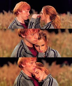 I loved it when she took off his glasses... maybe to let him know that it was him, not Harry, that she had fallen in love with.