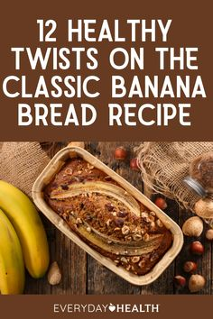 These nutrient-packed banana bread recipes transform the traditional version into a good-for-you option to enjoy as a meal or a snack. Healthy Food To Lose Weight, Healthy Food List, Heart Healthy Recipes, Healthy Meals For Kids, Healthy Foods, Healthy Banana Bread, Banana Bread Recipes, Banana Health Benefits, Favorite Recipes