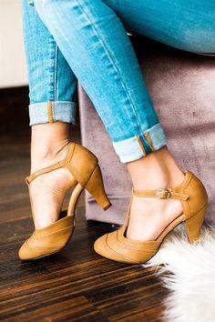 T- Strap Heels | 3 Colors!