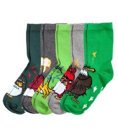 Lot de 5 paires de chaussettes | Vert/Angry Birds | Enfant | H&M CA