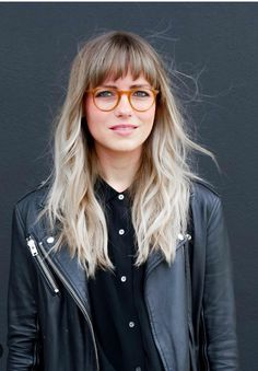 Cabello largo flequillo - Makeup Looks Full Face Haircuts For Long Hair, Haircuts With Bangs, Trendy Hairstyles, Hair Day, New Hair, Medium Hair Styles, Short Hair Styles, Long Hair Fringe Styles, Bangs And Glasses