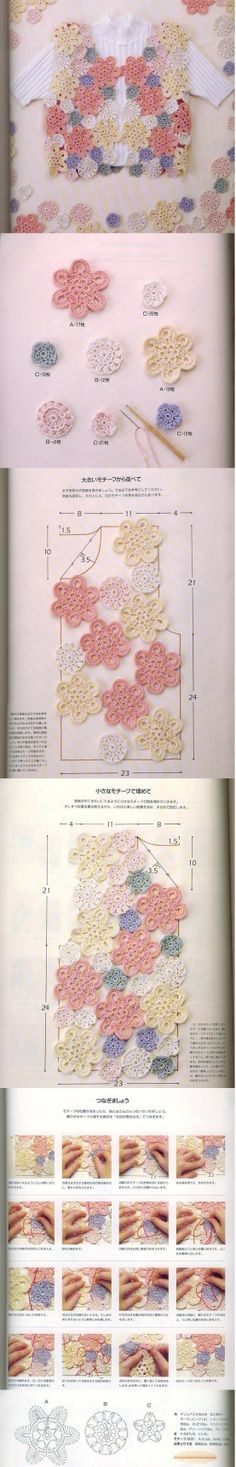 Full tutorial for this freeform crochet vest!