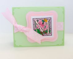 handmade monogram note cards - Google Search