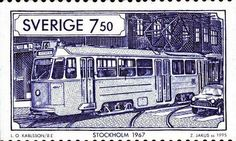 Tranvía de Estocolmo 1967, Suecia (2)