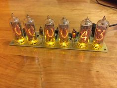 Clock Nixie Tube Tubes Kit Vintage Assembled Diy Retro Yellow No Wooden Open Source And Yellow Backlight 2 Buttons as viewed from the back.power supply included EU or USA height without height with Charger Set Mode Once started, all operation Steampunk Shelves, Steampunk Crafts, Steampunk Gadgets, Tube Nixie, Fallout, Date And Switch, Le Tube, Clock Display, Slot Machine