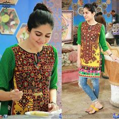 Sanam Baloch clicks in her morning show! - - #sanambaloch #followus ✨