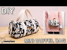 DIY CUTE DUFFEL BAG | Purse Bag Crossbody Bag Tutorial & Pattern [sewingtimes] - YouTube Backpack Pattern, Pouch Pattern, Pattern Sewing, Handbag Patterns, Bag Patterns To Sew, Diy Pouch Bag, Duffel Bag, Crossbody Bag, Diy Sac