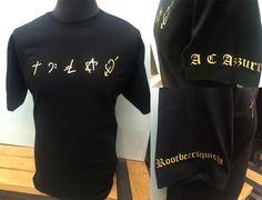 Beautiful #gold #foil #print from @savagelondon2 - #george #michael #faith #symbols #customprintedshirts #savagelondon #tshirt #tshirtdesign #custom #print #london #foilprint