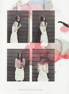 Love the photography mixing with the water colour paint. Under.Ligne collection lookbook