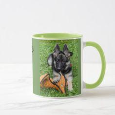 #GERMAN SHEPHERD PUPPY MUG - #german #shepherd #puppy #shepherds #dog #dogs #pet #pets