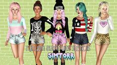The Sims 3 Female Clothes: Clothing and Socks Custom Content Download