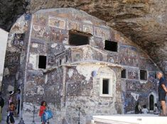 The Sumela Monastery is one of the oldest and most historic monasteries in the Christian world. Christian World, A Thousand Years, Brickwork, The Rock, Fresco, Mount Rushmore, City Photo, Asia, Old Things